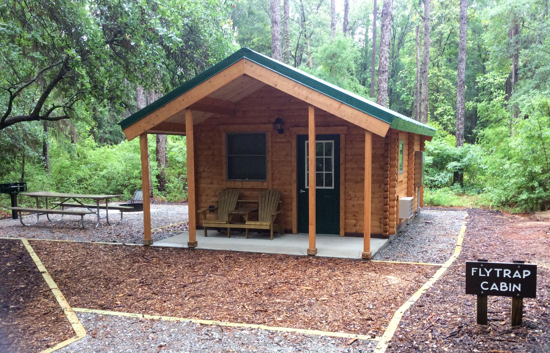 Camping cabins at Carolina Beach new campground at Lake