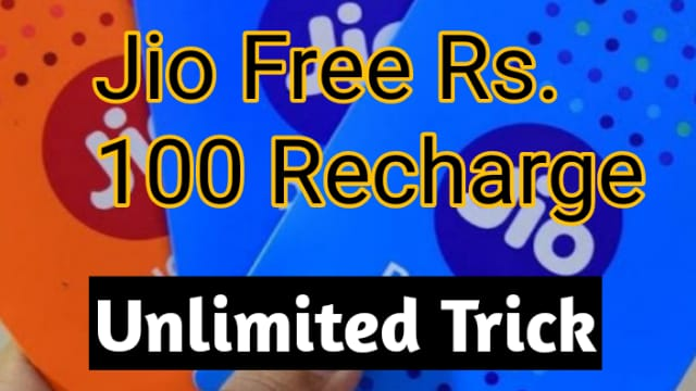 Freecharge - Get Jio Free Rs.100 Recharge (Unlimited Trick)