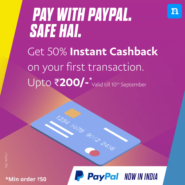 Niki App - Get 50% Cashback Upto Rs.200 On First Ever Mobile Recharge Paying Via Paypal