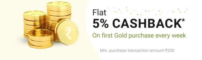 Phonepe - Flat Rs.50 Cashback On First Gold Purchase Every Week