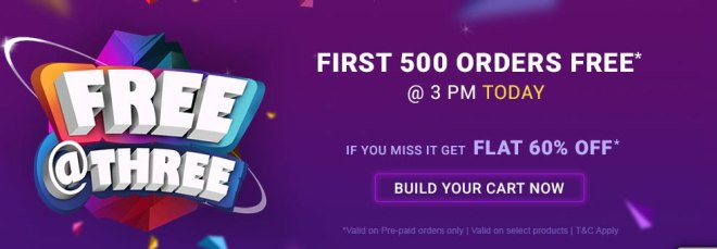 Firstcry Offer - First 500 Order Free @3PM, 6th May 2019