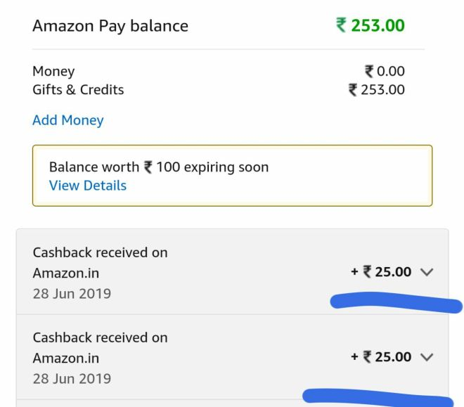 Amazon UPI Offer - Get Flat Rs.25 Cashback on First 2 Transaction in June