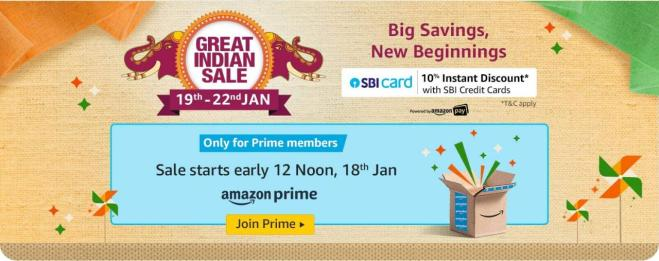 Amazon Great Indian Sale (19th - 22nd Jan) - Best Offers + Big Savings | Product Upto 80% OFF