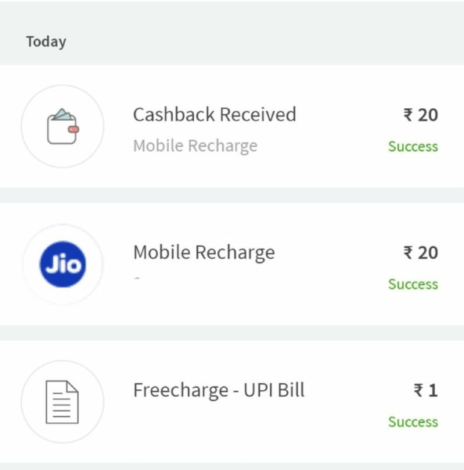 Freecharge Loot - Get Free Recharge of Rs.20 For All Users