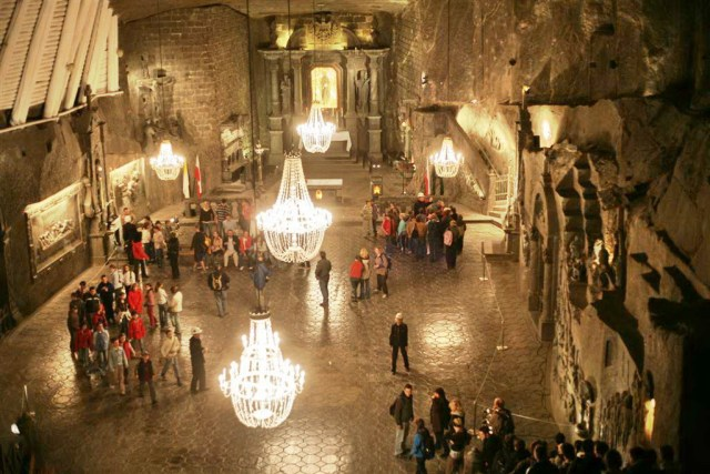 Wieliczka Salt Mine, Cracóvia, Polónia
