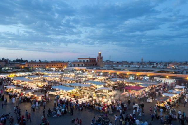 Praça Jamaa el Fna, Marraquexe, Marrocos