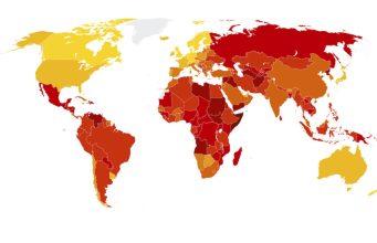 Portugal e os países menos e mais corruptos do mundo