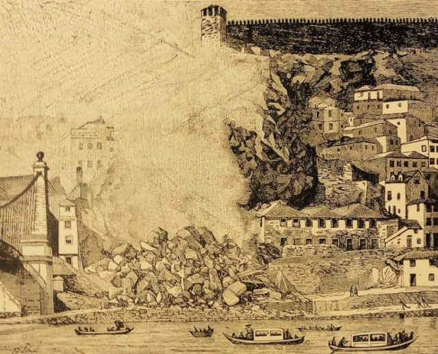 """Desenho de J. J. Pinto, natural do Porto, publicado na revista """"O Occidente"""""""