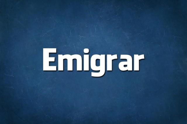 Emigrar ou Imigrar