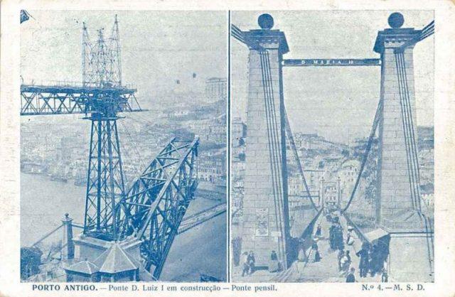 Porto: a ponte Pênsil D. Maria II
