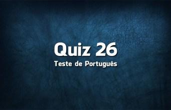 Quiz da Língua Portuguesa «26»