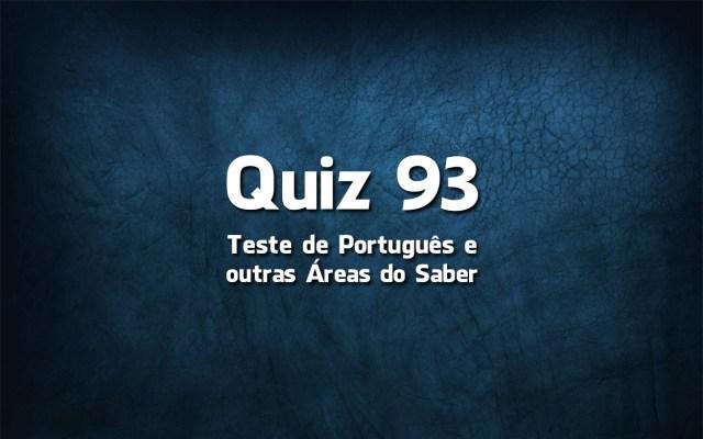 Quiz da Língua Portuguesa «93»