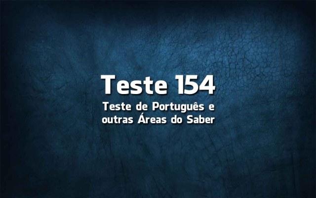 Teste de Língua Portuguesa «154»
