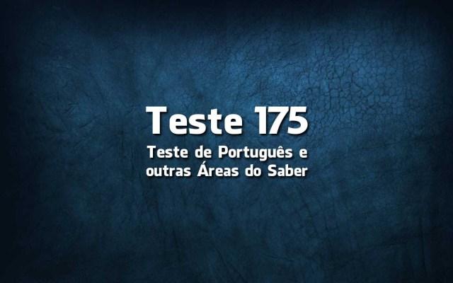 Teste de Português 175