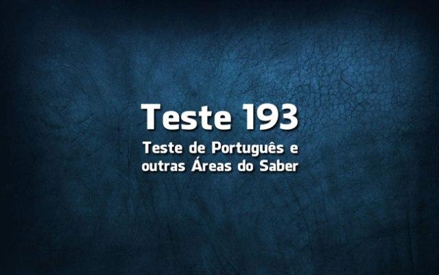 Quiz ou Teste de Português 193