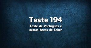 Teste de Português 194
