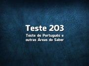 Quiz ou Teste de Português 203
