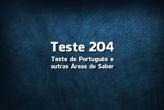 Quiz ou Teste de Português 204