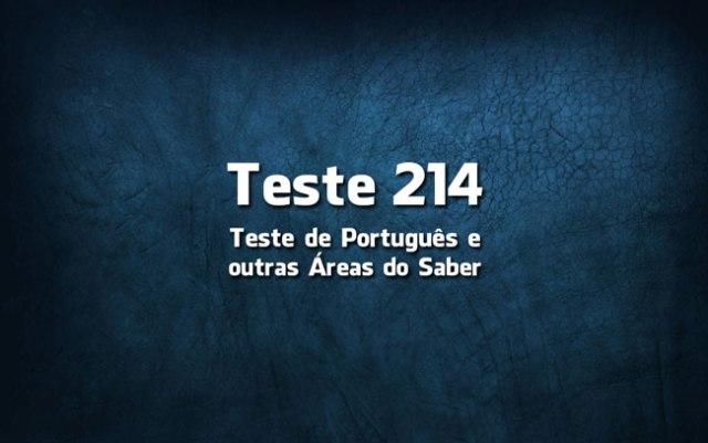 Quiz ou Teste de Português 214