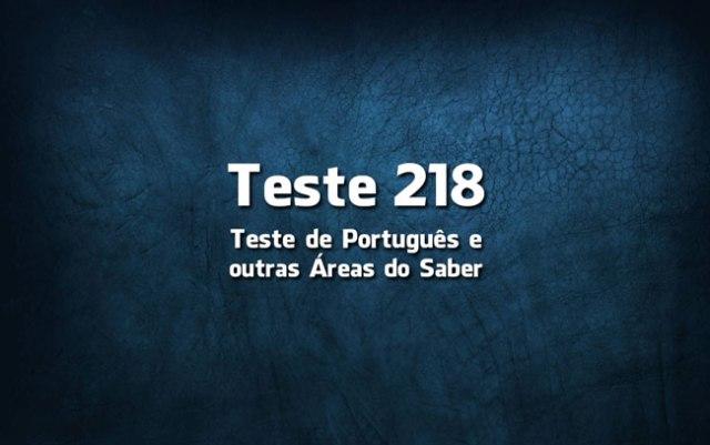 Quiz ou Teste de Português 218