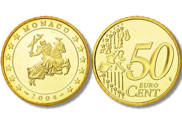 moedas de 50 cêntimos