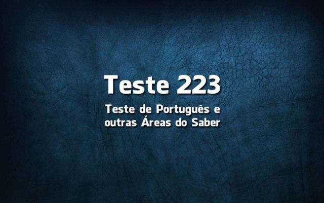 Quiz ou Teste de Português 223