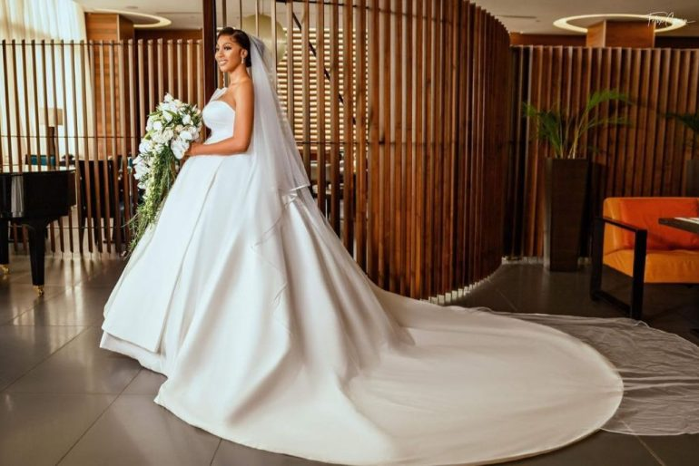 strapless wedding dress with pleated detail elizabeth and lace bridal