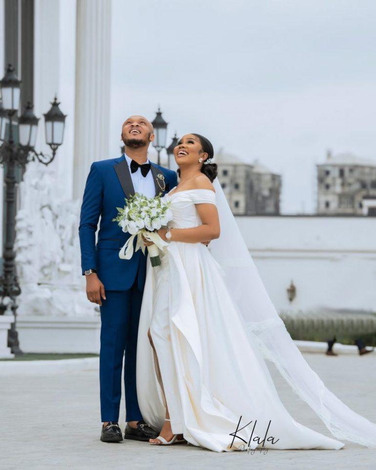 uju and udenna's white wedding