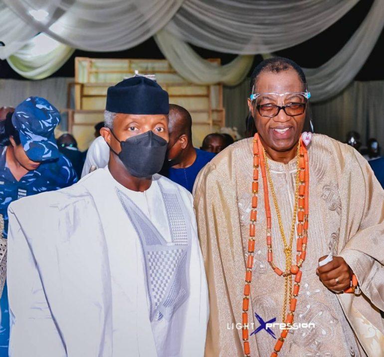 father of the bride & vice president yemi osinbajo at KDLagos2021