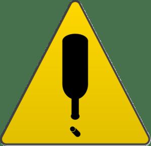 Wine Warning Symbol 512x495