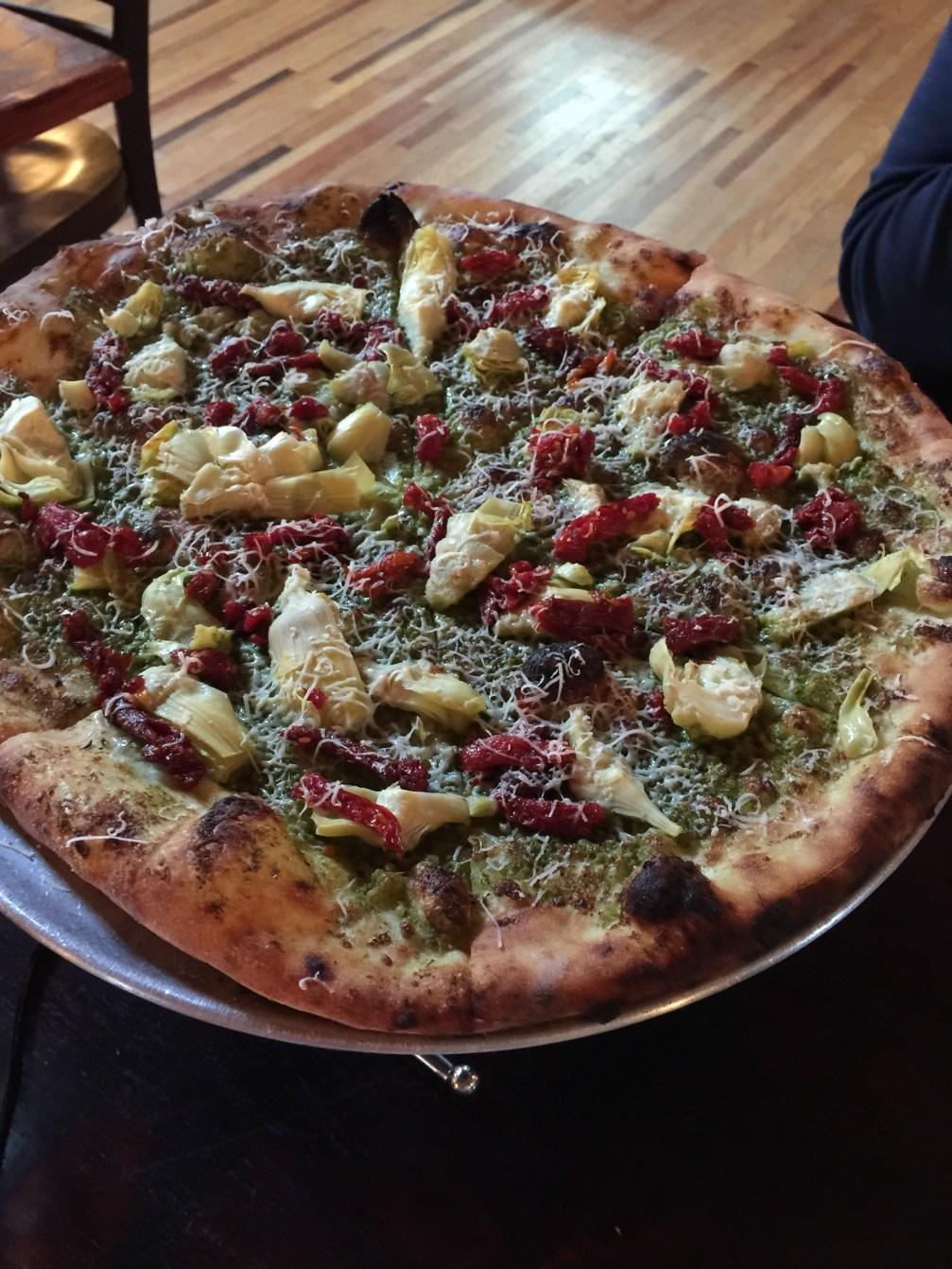 Elkin Creek's Pesto Pizza