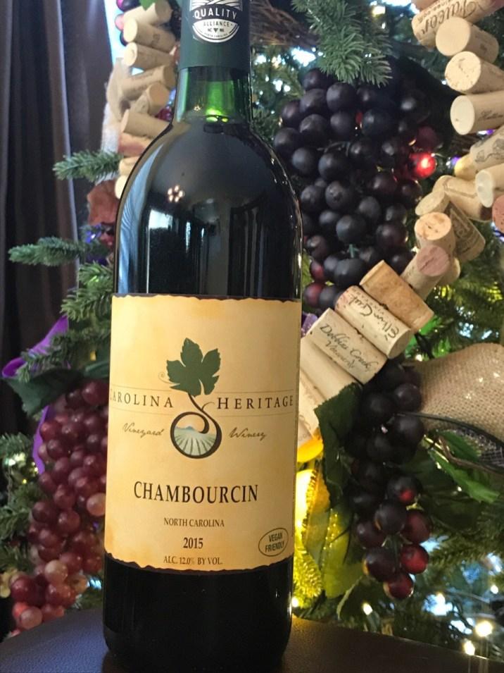 Chambourcin from Carolina Heritage Vineyard & Winery in Elkin