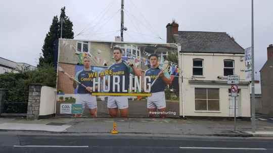 Advertising Board Centra Sponsorship of GAA Hurling
