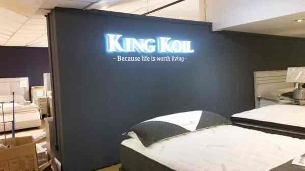 Interior Illuminated Sign For King Koil