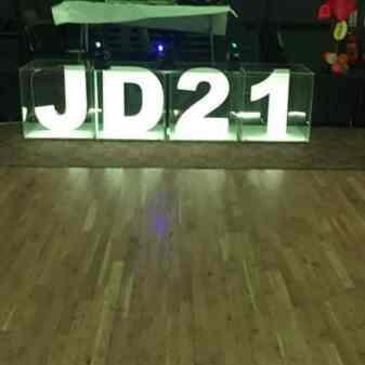 Event interior illuminated sign.