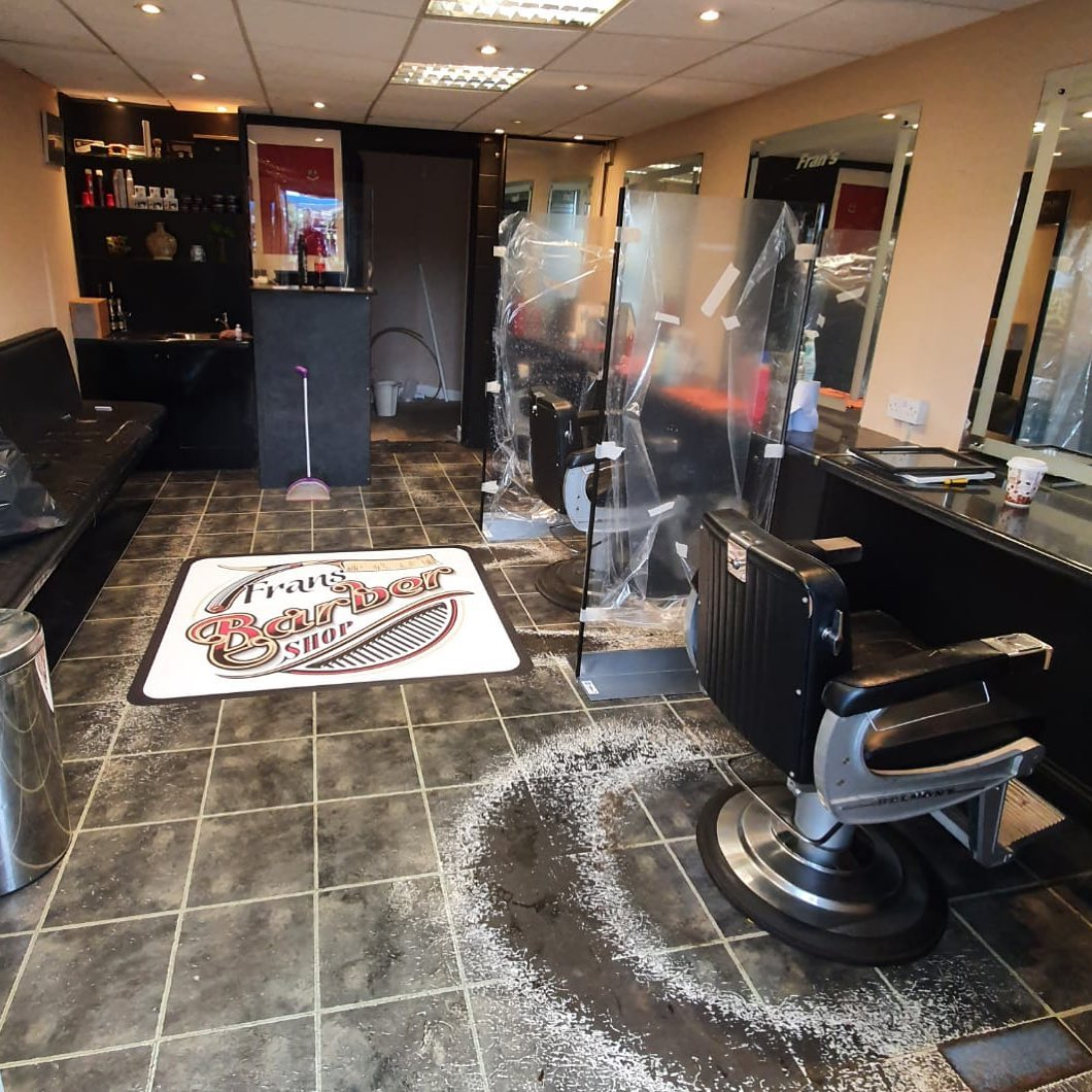 COVID 19 Protective Screens for Barbers.