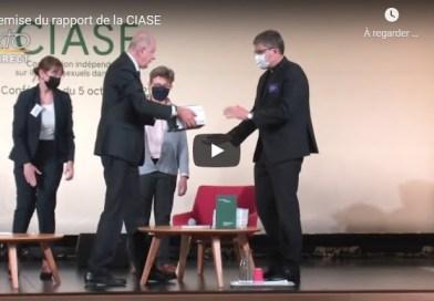 Remise du rapport de la CIASE sur les abus sexuels en France