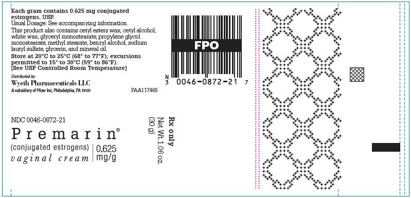 NDC 0046-0872 Premarin Vaginal Conjugated Estrogens