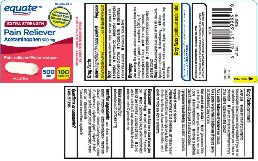 NDC 49035-494 Pain Reliever Extra Strength Acetaminophen