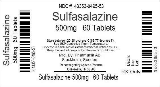 NDC 43353-495 Sulfasalazine Sulfasalazine