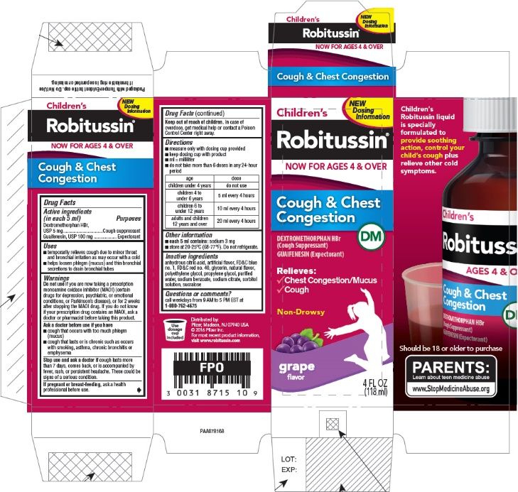 NDC 0031-8715 Childrens Robitussin Cough And Chest ...