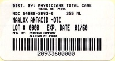 NDC 54868-2093 Maalox Antacid