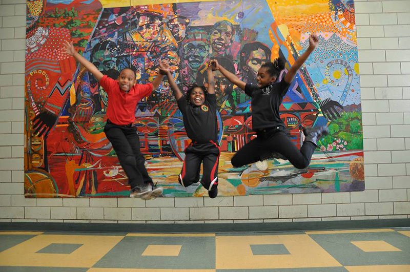 Students at Betty Shabazz International Charter Schools