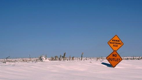 Minimum maintenance road in Nebraksa