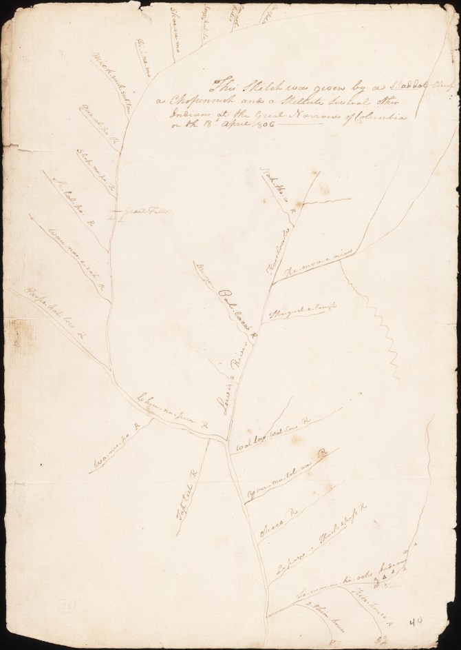 Map From a Skilloot Chief , from Capt. Clark 1806.