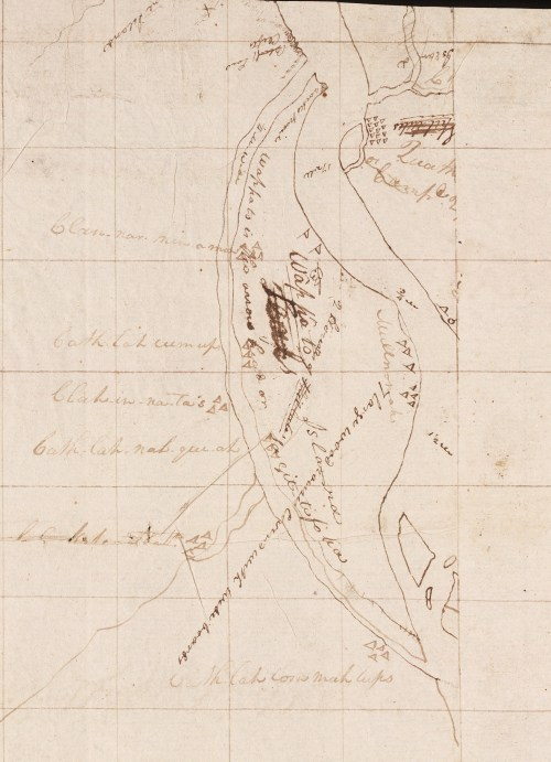 Wappato Island 1805-1806, Lewis and Clark Expedition Map