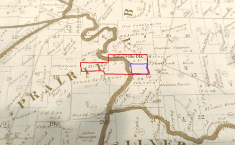 Location of Miller DLC and reservation. Miller's allotment was over 200 acres