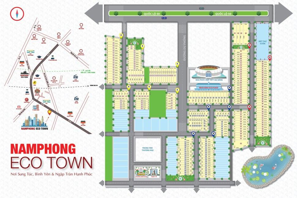 Sơ đồ phân lô dự án đất nền khu đô thị Nam Phong Eco Town