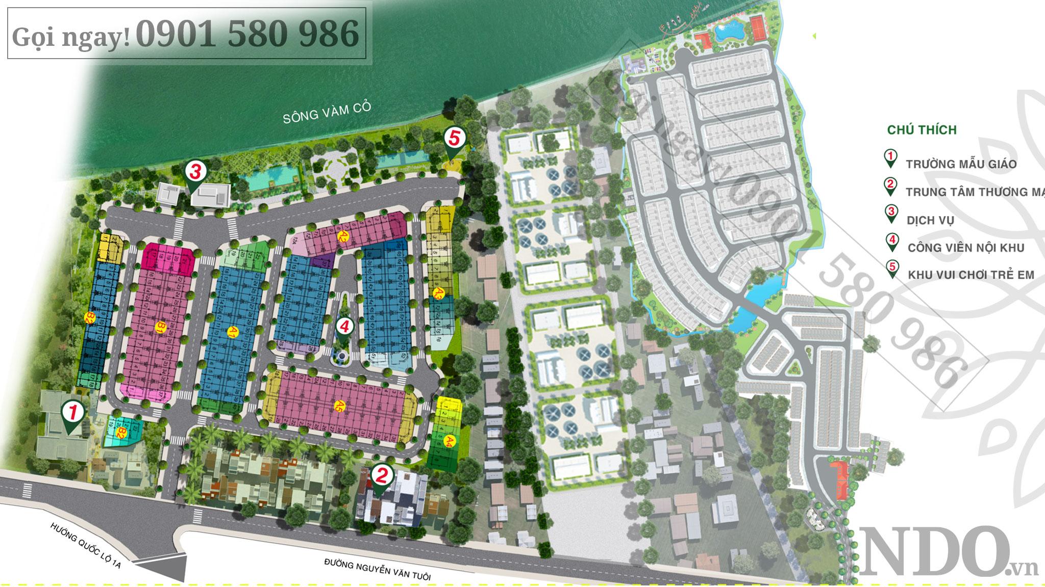 Sơ đồ phân lô dự án Solar City từ chủ đầu tư Trần Anh
