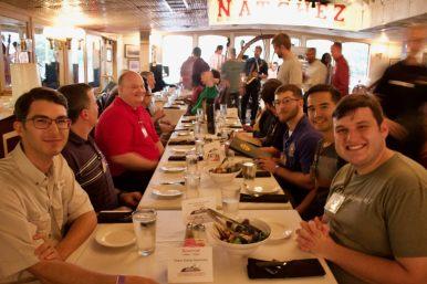 New seminarians enjoy dinner on the Steamboat Natchez!